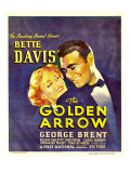 The Golden Arrow, Bette Davis, George Brent on Window Card, 1936