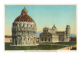 Buy Baptistry, Cathedral and Tower of Pisa, Italy at AllPosters.com