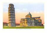Buy Cathedral and Tower of Pisa, Italy at AllPosters.com