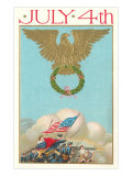 4th of July, Eagle Holding Wreath, Battle