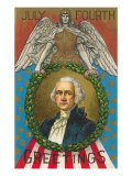 4th of July Greetings, George Washington