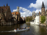 Medieval Architecture along the Canals of Brugge, Belgium