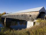 The Windsor Cornish Covered Bridge, Connecticut River, New Hampshire, USA