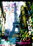 Magique Eiffel Art Print