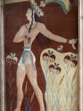 Fresco of a Minoan Priest King at Knossos, the Ancient Capital