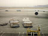 Cargo Waiting to Be Loaded onto Planes at the Beijing Airport
