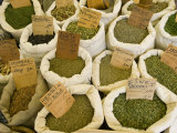 Sacks of Herbs at a Local Market