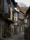 Half-Timbered Houses Line the Cobblestone Streets of La Alberca