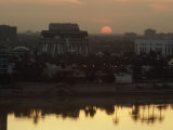 Baghdad and the Tigris River at Sunset
