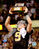 Drew Brees 2009 With NFC Championship Trophy