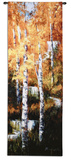 Autumn Birch Falls Wall Tapestry