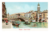 Buy Painting of Rialto Bridge, Venice, Italy at AllPosters.com