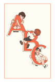 ABC, Children Climbing on Letters