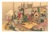 Japanese Woodblock, Tea Ceremony
