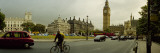 Traffic in Front of a Clock Tower, Big Ben, City of Westminster, London, England