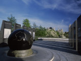 World War II Memorial with Black Granite Globe, Bicentennial Mall State Park, Nashville