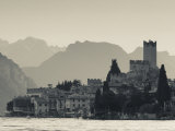 Veneto, Lake District, Lake Garda, Malcesine, Lakeside Town View, Italy