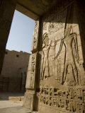 Beautiful Carvings and Heiroglyphs Cover the Walls of the Mortuary Temple of Ramses Iii at Medinet