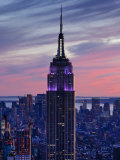 New York City, Manhattan, View Towards Downtown; Empire State Building from Rockerfeller Centre, US