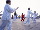 Buy Tai Chi on the Bund, Shanghai, China at AllPosters.com