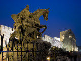 Statue of Saladin Stands in Front of the Citadel, Damascus, Syria