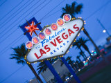 Nevada, Las Vegas, Welcome to Fabulous Las Vegas Sign, Defocussed, USA