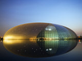 China Beijing an Illuminated National Grand Theatre Opera House known as the Egg