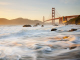 Buy California, San Francisco, Golden Gate Bridge from Marshall Beach, USA at AllPosters.com