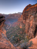 Utah, Zion National Park, from Canyon Overlook, USA