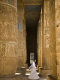 Columns of Ramses Iii's Mortuary Temple at Medinet Habu on the West Bank, Luxor, Egypt