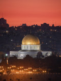 Dome of the Rock Mosque, Dusk, Jerusalem, Israel