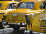 West Bengal, Kolkata, Calcutta, Yellow Ambassador Taxis, India Photographic Print