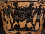 Fighting over Body of Patroclus, friend of Achilles, during Trojan War
