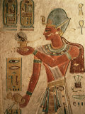 The King, Ramesses III, Wearing the Blue Crown and Making an Offering