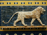 Buy Lion, Glazed Brick Relief, 604-562 BC, Neo-Babylonian at AllPosters.com