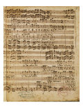Autograph Score of the Magnificat for 5 Voices by Francesco Durante