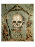 Symbols of Afterlife, Roman Mosaic from House of Tragic Poet, Pompeii, Italy