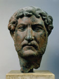 Hadrian, 76-138 AD Roman Emperor, Bronze Head, from Egypt