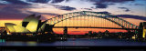 Opera House and Harbor Bridge, Sydney Art Print