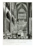 View of Orchestra and Performers in Westminster Abbey, during Commemoration of Handel
