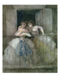 Buy Girls on the Balcony, 1855-60 at AllPosters.com