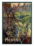 Poster of Merano, printed by Richter and C. Naples, c.1926