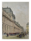 New Facade of Louvre on Rue De Rivoli, Illustration from