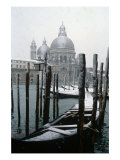 View of Santa Maria della Salute in Snow