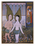 Adam and Eve banished from Paradise, from 'Hadiqat al-Suada', 1610, Baghdad