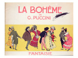 Frontispiece of the Score Sheet for 'La Boheme' by Puccini, Early Twentieth Century