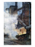 Buy Steelworks at Chasse, Isere, 1917 at AllPosters.com