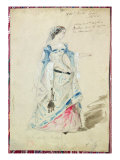 Costume Design for Mlle Madeleine Brohant