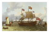 The Three-Master 'Britannia' in Rotterdam, 1698