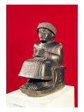 Gudea, Prince of Lagash, Statue Dedicated to Ningizzada, Neo-Sumerian, from Telloh, ancient Girsu,